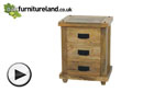 Watch Baku Light Mango 3 Drawer Bedside Chest video