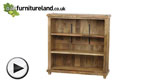 Watch Baku Light Natural Solid Mango 3 Shelf Display Unit video