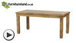 "Watch Baku Light Mango 5ft 6"" x 2ft 9"" Dining Table video"