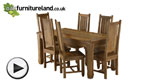 "Watch Baku Light Mango 5ft 6"" x 2ft 9"" Dining Table + 6 Light Mango Chairs video"
