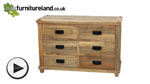 Watch Baku Light Natural Solid Mango 6 Drawer Chest video