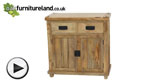 Watch Baku Light Natural Solid Mango Small Sideboard video