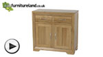 Watch Bevel Solid Oak Small Sideboard video