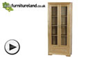Watch Bevel Solid Oak Glazed Display Cabinet video