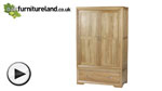 Watch Bevel Solid Oak Wardrobe video