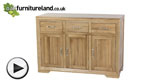 Watch Bevel Solid Oak Large Sideboard video