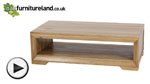 Watch Bevel Solid Oak Coffee Table video