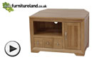 Watch Bevel Solid Oak Small Corner TV Cabinet video