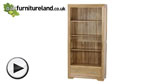 Watch Bevel Natural Solid Oak Tall Bookcase video