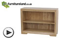 Watch Bevel Natural Solid Oak Wide Bookcase video