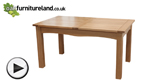 Watch 5ft x 3ft Cairo Natural Solid Oak Extending Dining Table video