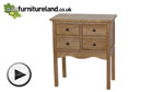 Watch Cairo Solid Oak 4 Drawer Chest video