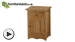 Watch Cairo Natural Solid Oak Bedside Cabinet video