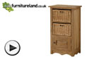 Watch Cairo Natural Solid Oak Bookcase / Storage Unit video