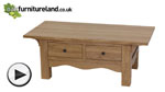 Watch Cairo Natural Solid Oak Coffee Table video