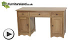 Watch Cairo Natural Solid Oak Compact Computer Desk video