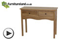 Watch Cairo Natural Solid Oak Console Table video