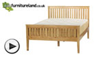 "Watch Cairo Natural Solid Oak 4ft 6"" Double Bed video"
