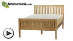 Watch Cairo Natural Solid Oak 5ft King-Size Bed video