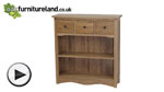 Watch Cairo Natural Solid Oak Low Wide Display Unit video