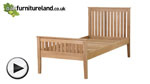 Watch Cairo Natural Solid Oak 3ft Single Bed video
