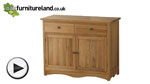 Watch Cairo Natural Solid Oak Small Sideboard video