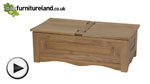 Watch Cairo Natural Solid Oak Storage Chest video