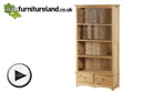 Watch Cairo Natural Solid Oak Tall Bookcase video