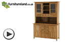 Watch Natural Solid Oak Welsh Dresser video