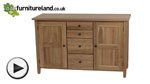 Watch Chaucer Solid Oak Large Sideboard video