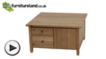 Watch Chaucer Solid Oak Square Coffee Table video