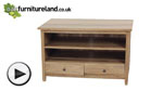 Watch Chaucer Solid Oak TV + DVD Cabinet video