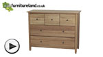 Watch Chaucer Solid Oak Wide Chest of Drawers video