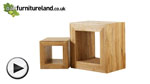 Watch Cairo Natural Solid Oak Set of 2 Cube Tables video