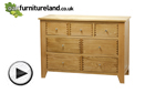 Watch Dovedale Solid Oak 3 + 4 Drawer Chest video