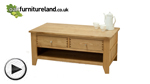 Watch Dovedale Solid Oak Coffee Table with Storage video