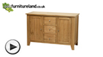 Watch Dovedale Solid Oak Large Sideboard video