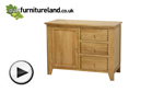 Watch Dovedale Solid Oak Storage Cabinet video
