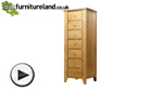 Watch Dovedale Solid Oak 7 Drawer Chest video