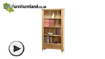 Watch Dovedale Solid Oak Tall Bookcase video