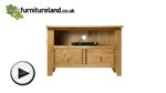 Watch Dovedale Solid Oak TV + DVD Cabinet video