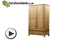 Watch Dovedale Solid Oak Wardrobe video