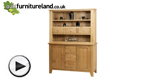 Watch Dovedale Solid Oak Welsh Dresser video