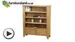Watch Dovedale Solid Oak Low Display Unit with 2 Drawers video