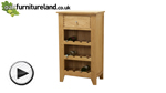 Watch Dovedale Solid Oak Wine Rack video