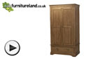 Watch French Farmhouse Rustic Solid Oak Double Wardrobe video