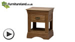 Watch French Farmhouse Solid Oak Lamp Table video