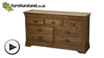Watch French Farmhouse Rustic Solid Oak 3+4 Chest of Drawers video