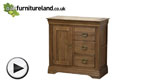 Watch French Farmhouse Rustic Solid Oak Storage Chest video