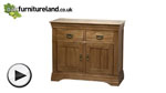 Watch French Farmhouse Solid Oak Small Sideboard video